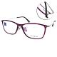 ZEISS蔡司眼鏡 簡約方框款/透紫-銀 #ZS70010 F820 product thumbnail 1