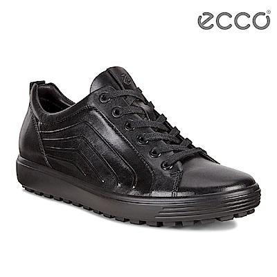 ECCO SOFT 7 TRED M 經典街頭單色運動休閒鞋 男-黑