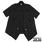 【NATURALLY JOJO】都會簡約荷葉領外套(黑)