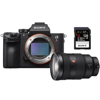SONY A7R III(A7R3)機身+SEL2470GM鏡頭+SF-G128記憶卡(公司貨)