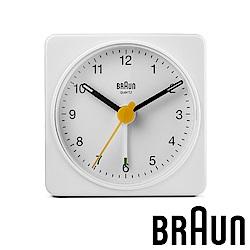 德國百靈 BRAUN 復刻嚴選簡約旅行鬧鐘 (BC02W)-質感白