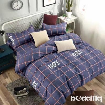 BEDDING-活性印染-加大6尺雙人薄式床包枕套三件式-英倫學院