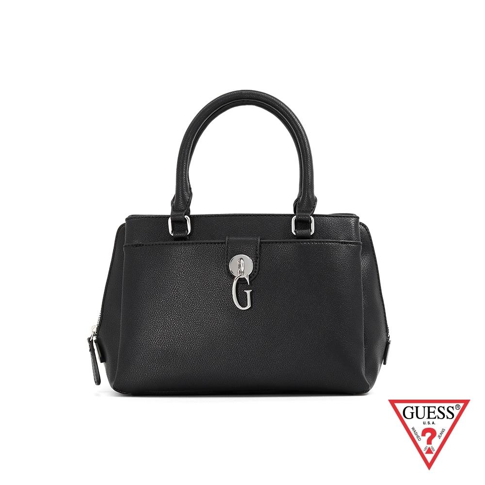 GUESS-女包-簡約字母G手提包-黑 原價3490