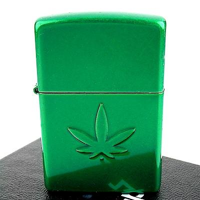 ZIPPO 美系~Stamped Leaf-大麻葉圖案內部打印打火機