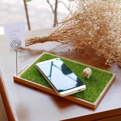 歐士OSHI 輕草地置物盤/留言夾/收納盤/桌面整理/留言夾/療癒商品