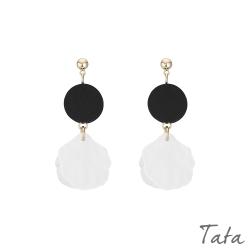圓木氣質花瓣耳環 TATA