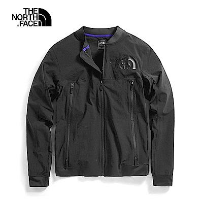The North Face北面男款黑色防曬防潑水風衣外套|3V7CJK3