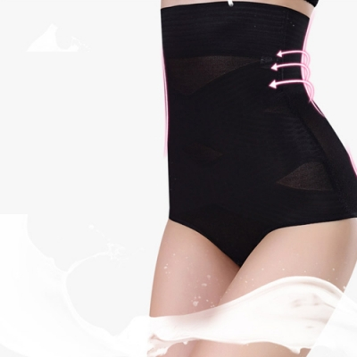 【狐狸姬】M-5L塑身褲 交叉縮小腹高腰平腹半身提臀塑身褲-單塑褲(黑)