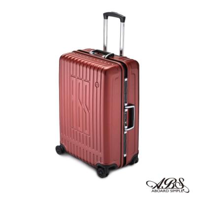 ABS M1R+系列 25吋深鋁框PC輕量TSA鋁框箱防刮耐摔飛機輪 99-055B