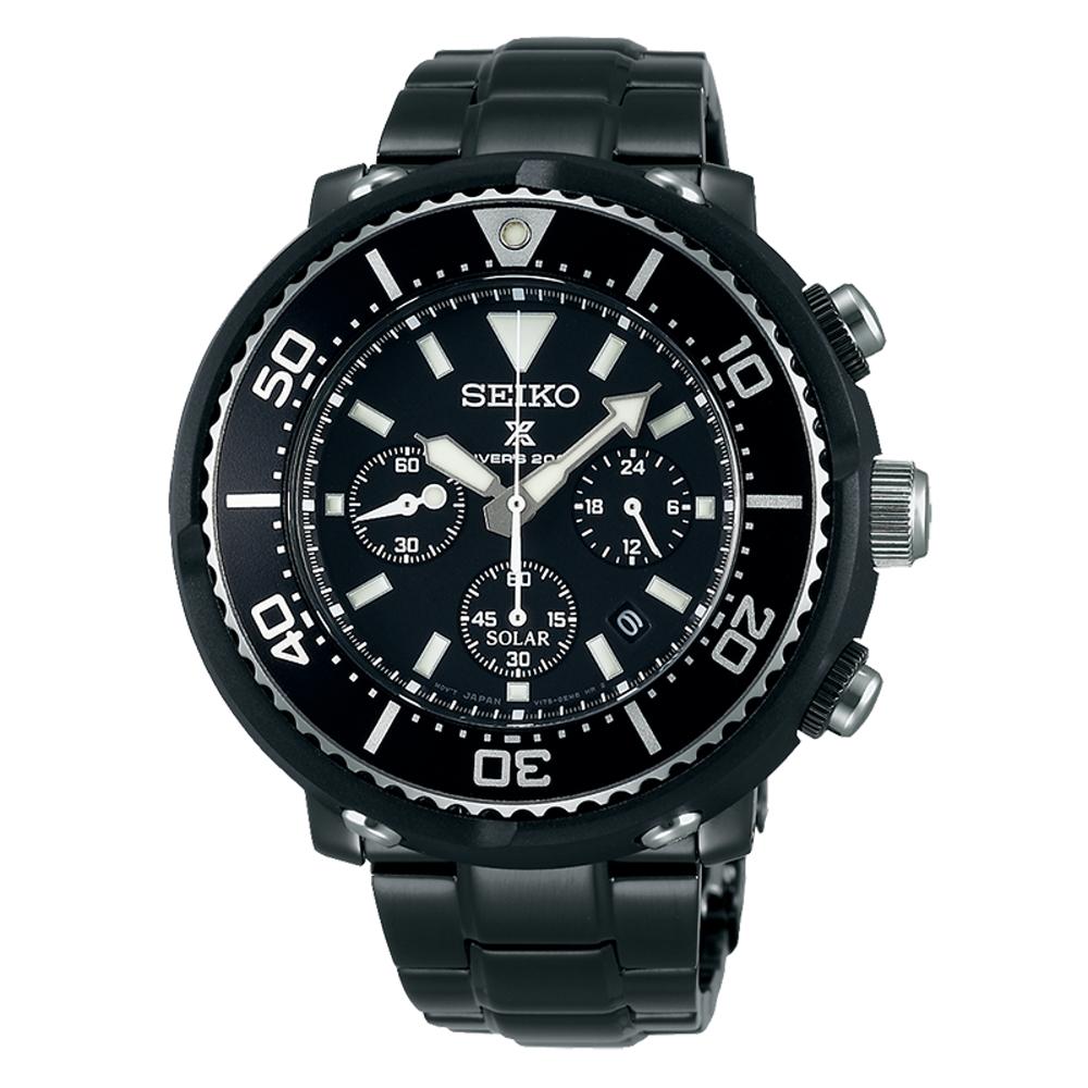 SEIKO精工/PROSPEX強力鮪魚罐頭太陽能計時限量腕錶 /V175-0DV0SD/S