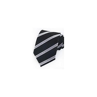 拉福   領帶8cm寬版黑倫領帶拉鍊領帶(兒童)
