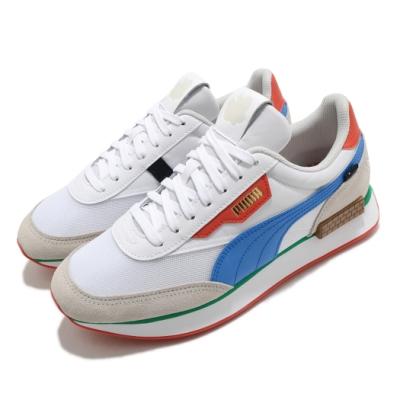 Puma 休閒鞋 Future Rider 運動 男女鞋 基本款 聯名 超級瑪莉 情侶穿搭 白 灰 38019601