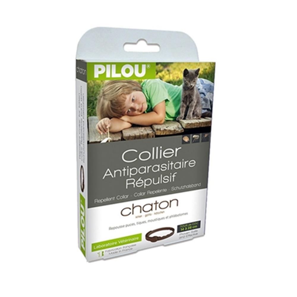 法國皮樂Pilou第二代加強升級-非藥用除蚤蝨項圈-幼貓用(35cm) 兩盒組