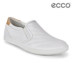 ECCO LEISURE 輕巧簡約套入式懶人鞋 女-白/裸色