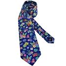 TOMMY 藍色花朵圖樣造型領帶