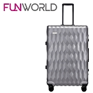 FUNWORLD 20吋鑽石系列鋁框行李箱-銀河灰