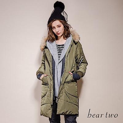 beartwo 溫暖毛領軍裝連帽外套(二色)