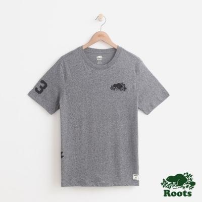 男裝Roots 貝德福短袖T恤-灰色