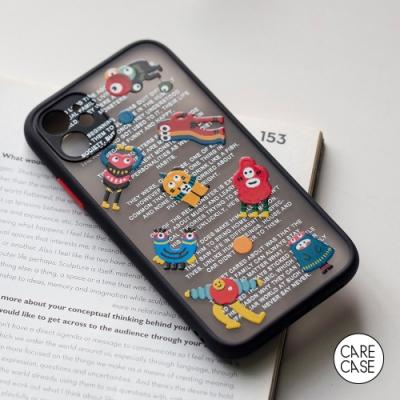 CARECASE 小怪獸系列 iPhone 12 手機保護殼 磨砂立體款