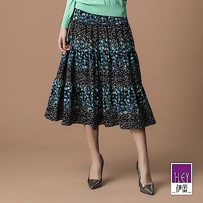 ILEY伊蕾 碎花點點層次雪紡長裙(藍)