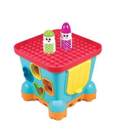 美國 INFANTINO 數字形狀排序城堡造型積木玩具