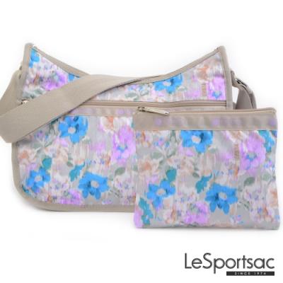 LeSportsac - Standard側背水餃包/流浪包-附化妝包 (窗外花景)