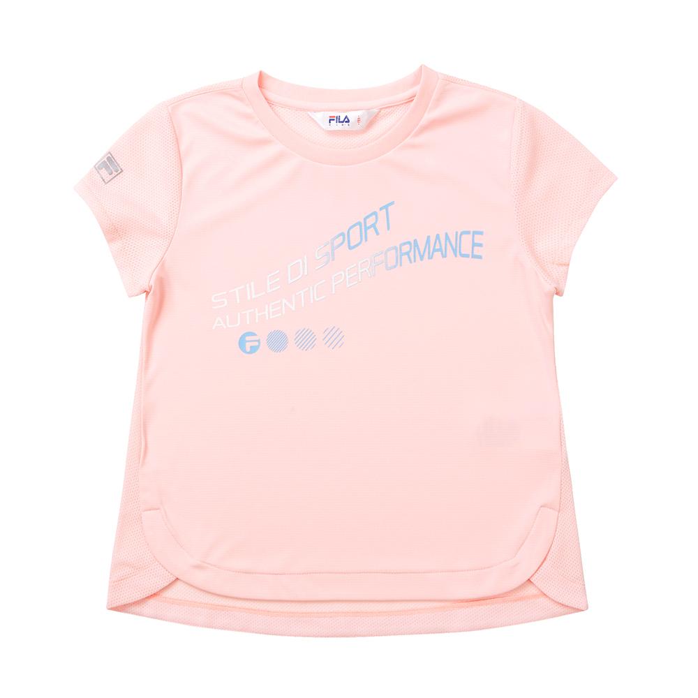 FILA KIDS 吸排上衣-粉紅 5TET-4317-PK