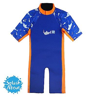 潑寶 Splash About UV Combie 兒童防寒泳裝 - 亮橘鯊魚