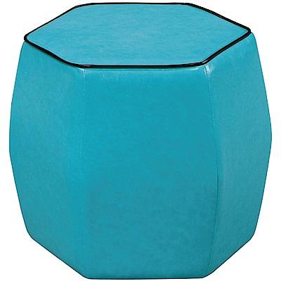 文創集 巴穆塔現代風皮革六角造型椅凳(三色可選)-39x39x39cm-免組