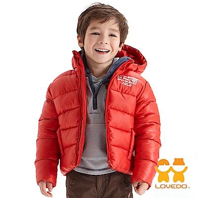 【LOVEDO-艾唯多童裝】霹靂遊俠 連帽保暖鋪棉外套(紅)