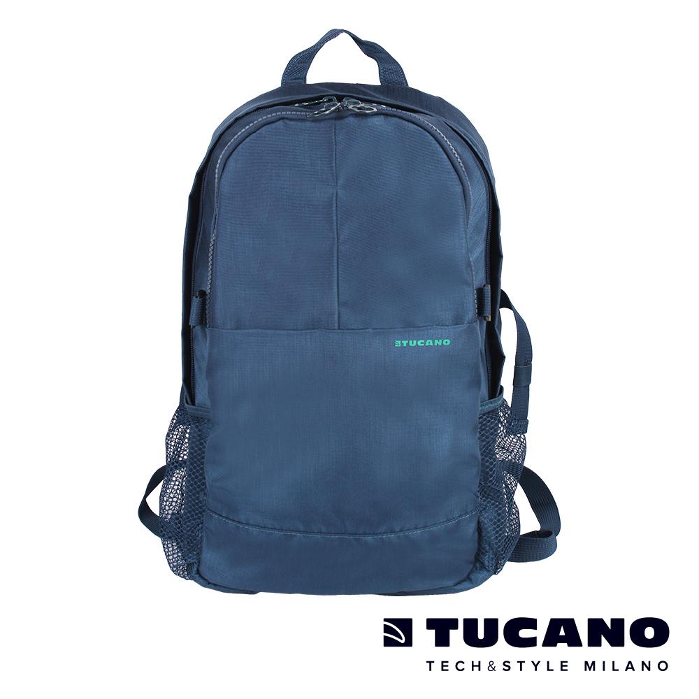 TUCANO GIPSY 15.6吋美式休閒多功能雙肩後背包-藍
