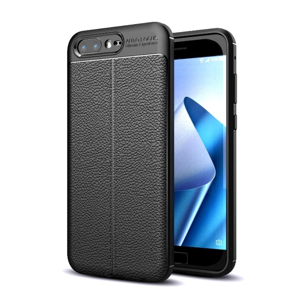 PKG ASUS Zenfone4 Pro (ZS551KL)商務時尚款抗指紋-皮紋黑