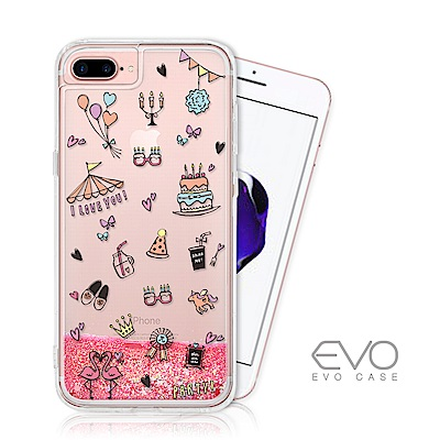 EVO CASE iPhone 6/7/8 plus 亮片流沙手機軟殼 - 氣球派對 @ Y!購物