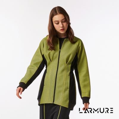 L ARMURE 女裝 立體紋理 飛行 夾克 洋裝 紋理黃