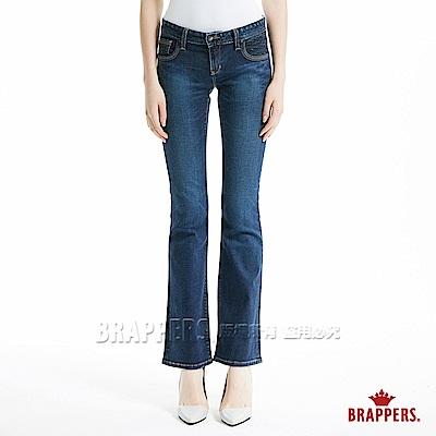 BRAPPERS 女款 新美腳Royal系列-中低腰彈性鑲鑽小靴型褲-藍