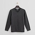 Hang Ten - 男裝 - ThermoContro系列-柔軟保暖V領上衣-深灰