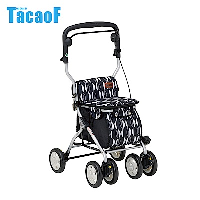 日本TacaoF幸和 中型助步車-黑北歐風