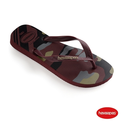 Havaianas哈瓦仕 拖鞋 夾腳拖 巴西 男鞋 紫紅 4141398-4924M Camu 迷彩 Top