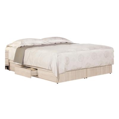 文創集 布拉森 現代5尺雙人三抽屜床底(不含床墊)-151.5x187x25.5cm免組