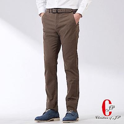 Christian-美式風格彈性休閒褲-橄綠-HW