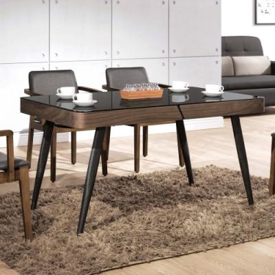 H&D 德瑞克黑腳4.5尺餐桌