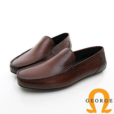 【Amber】舒適時尚  舒適直套式休閒鞋-咖啡色