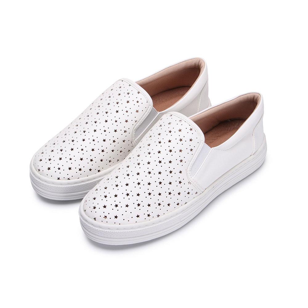 BuyGlasses 星星相印懶人鞋-白