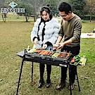 LIFECODE 黑武士大型烤肉架-二段高度(含烤盤+調料盤*2)