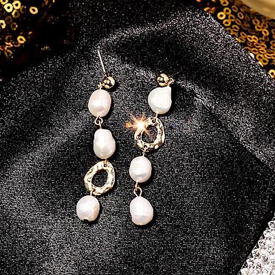 梨花HaNA 韓國925銀針她的私生活母貝珍珠長耳環