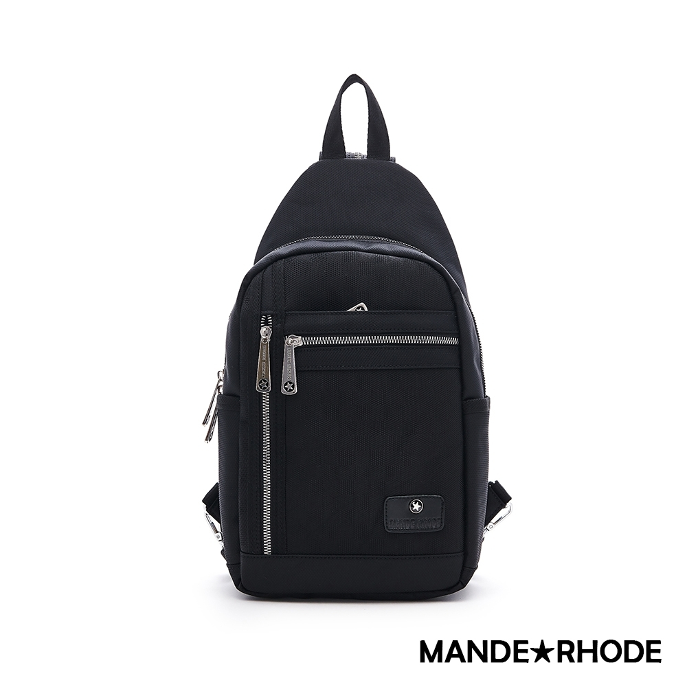 MANDE RHODE - 普徠德 - 美系潮男風格兩用後背胸包 - 格紋黑【P322-A】