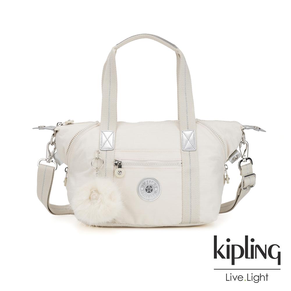 Kipling 優雅米白手提側背包-ART MINI