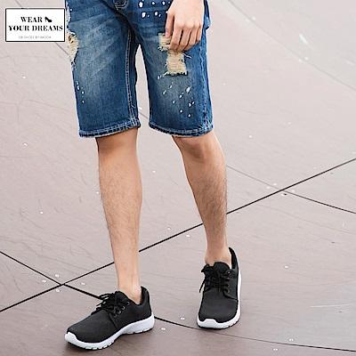 台灣製造~素色水洗布百搭休閒運動鞋‧男3色-OB大尺碼