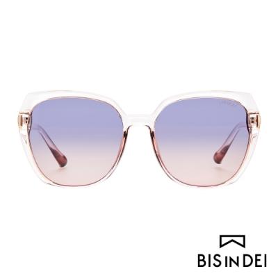BIS IN DEI 顯瘦大方框太陽眼鏡-粉
