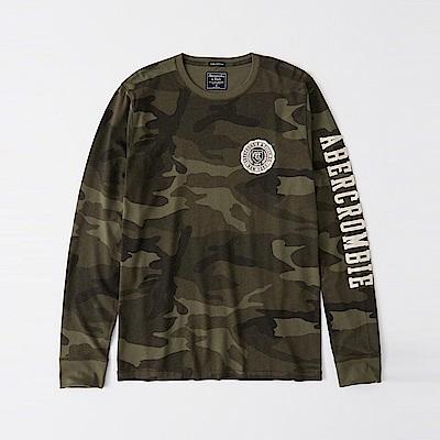 AF a&f Abercrombie & Fitch 長袖 T恤 綠色 1117
